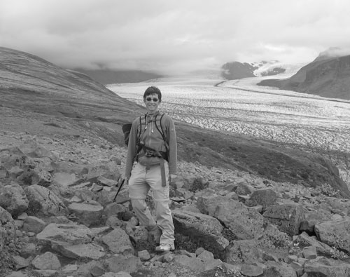 Calleson hiked in Iceland in 2007.