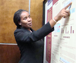 Students regularly present research on health disparities at conferences in Chapel Hill and around the world.