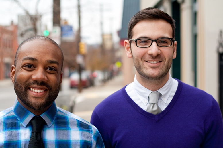 Derrick Matthews (PhD, HB, 2013) and Dio Kavaliertos (PhD, HPM, 2013). Derrick and Dio both currently hold postdoctoral fellowships at the University of Pittsburgh, Derrick in the Department of Behavioral and Community Health Sciences, and Dio at the RAND Institute within the School of Medicine.