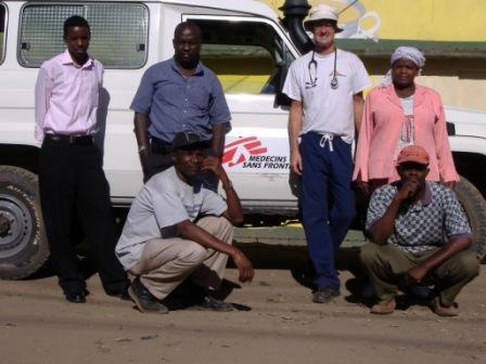 PHLP alumnus, Richard Vinroot, working with Medecins Sans Frontieres.