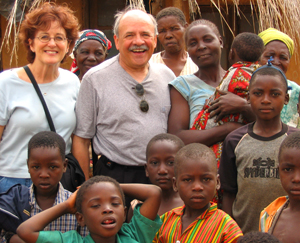 Jack Allison and his wife, Sue Wilson, are shown here with friends in Nsiyaludzu, Malawi.