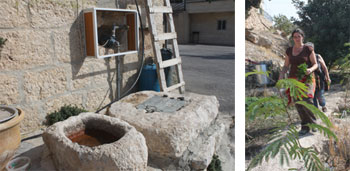 Rainwater is collected for household use in this West Bank town of Beit Sahour, Palestine. Photos by Michael Shade.
