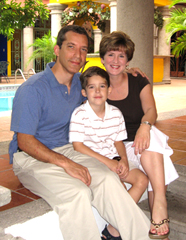 Dr. Victor Cáceres and family