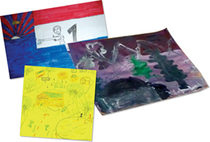 Artwork by refugee children from Burma reflects the trauma of violence and relocation, as well as hope and newly discovered pleasure.