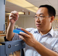 Doctoral student Kun Lu studies what levels of the carcinogen formaldehyde are safe in the human body.