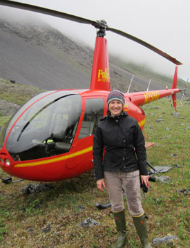In July, Dr. Rose Cory collected water samples from the Sagavanirktok River in the Alaskan Arctic.