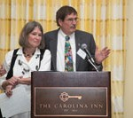 Dr. Jo Anne Earp (left) with husband Dr. Shelley Earp