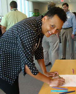 Assistant dean for students Felicia Mebane endorses the DITF report with her signature.