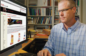 Dr. Kurt Ribisl tracks one of the many websites that offer online purchase of tobacco products.