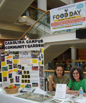 The Oct. 24 Food Day Fair featured local organizations, including the Carolina Campus Community Garden, that promote healthy, affordable and sustainable food.