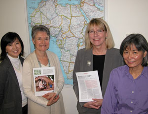 Study co-authors (l-r) are Hyunsan Cho, Dr. Denise Hallfors, Dr. Carolyn Halpern and Bonita Iritani.