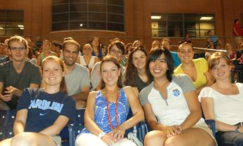 Health Behavior MPH students attend a Durham Bulls baseball game