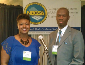 PhD students Tandrea Hilliard and Jason Mose represent HPM and the School at the National Black Graduate Student Association Conference, March 2012
