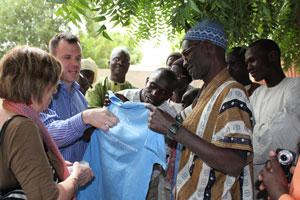 Associate dean for global health Dr. Peggy Bentley, far left, in Senegal