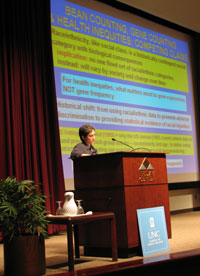 Dr. Nancy Krieger presents at the 2008 Minority Health Conference