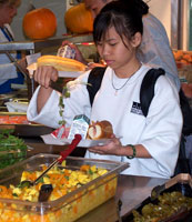 A Seattle elementary student participates in UNC's Healthy Eating by Design