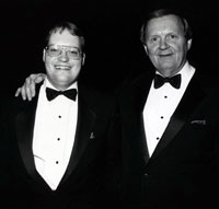 Scott Pearson with his father, Clarence