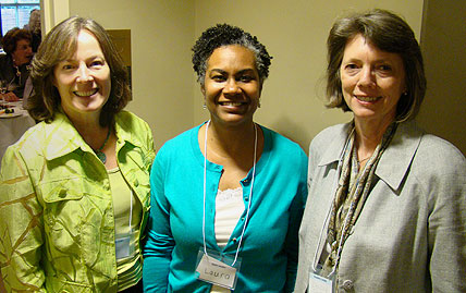 L-R, Anna Schenck, Laura Gerald, and Dr. Sandra Greene, Professor of the Practice of Health Policy