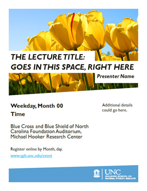 gillings school event poster templates unc gillings school of