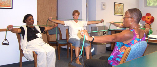 Resistance bands for arm strengthening