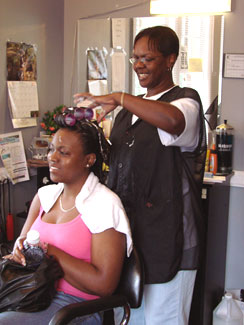 Stylist and owner of Simply Styling Salon