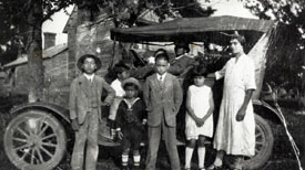 The Nunn Family, shown here in 1927, were residents of the Rogers-Eubanks community. Photo courtesy of the N.C. Collection.
