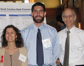 Dr. David Rosen (center) with colleagues Dr. Carol Golin and Dr. Vic Schoenbach