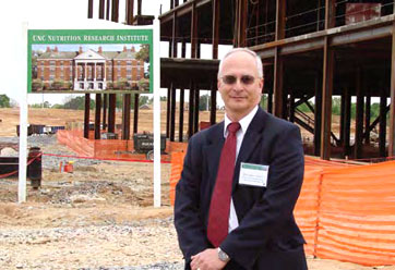 Dr. Steven Zeisel at NRI research building site