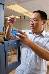 Doctoral student Kun Lu has developed a formaldehyde biomarker to measure the amount of the chemical in the human body.