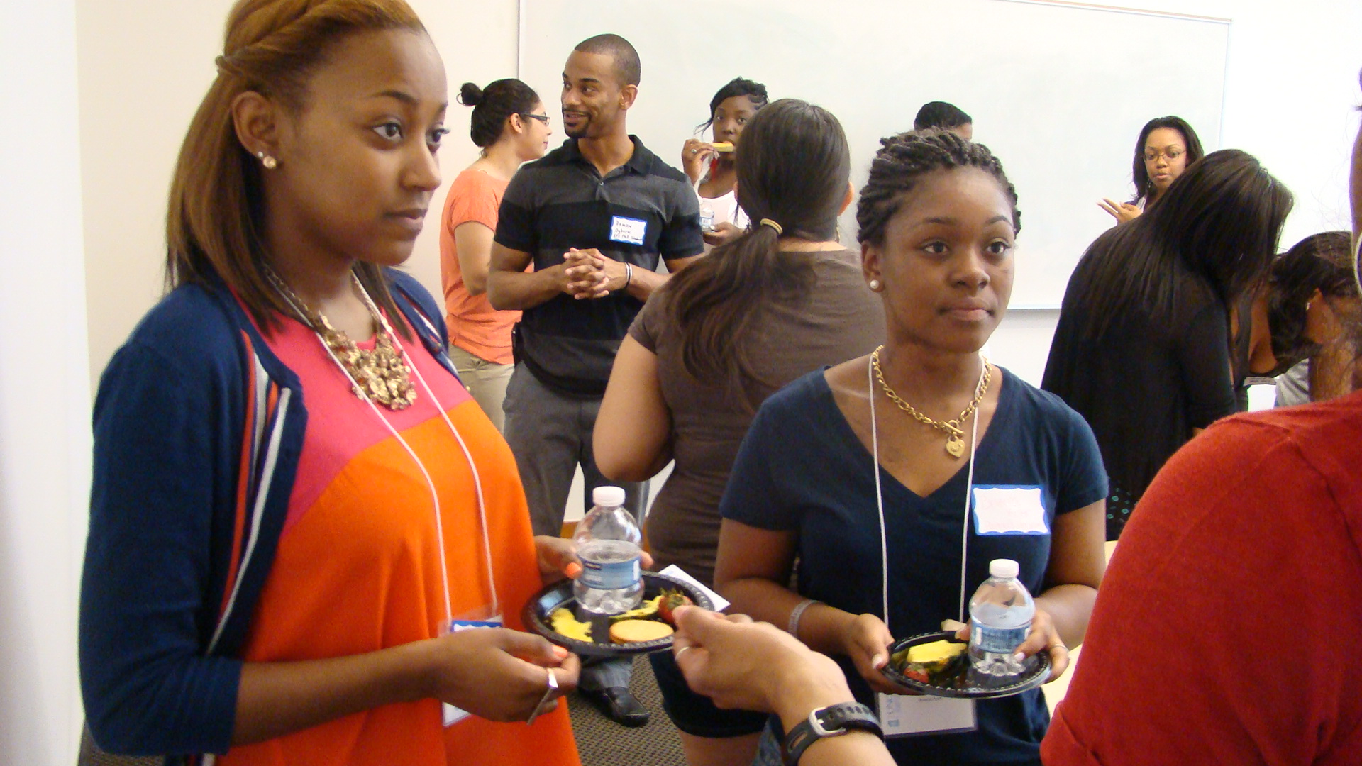 Students mingle at the 2012 Partnership Program Networking Event.