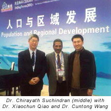 Photograph of Dr. Chirayath Suchindran with colleagues in Beijing