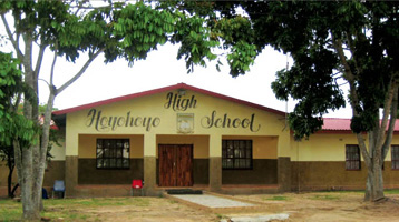 This high school is located in South Africa's Cunningmore A Village, one of 24 villages in which Swa Koteka will recruit study participants.