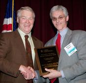Dr. James Swenberg (left), Dr. Mike Aitken (photo by Tom Fuldner)