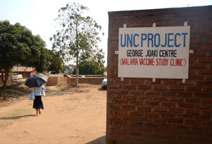 UNC Project-Malawi, a research, care and training program, opened in 1999. In 2009, the program began an international malaria vaccine trial, the first of its kind. More than 110 people die of malaria every day in Malawi, nearly half of them under age 18.