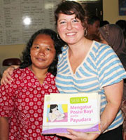 Wasser worked with a local breastfeeding support coordinator in Semarang, Indonesia.