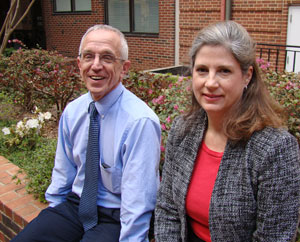 Drs. Morris Weinberger (left) and Jane Monaco received the Larsh, McGavran awards.