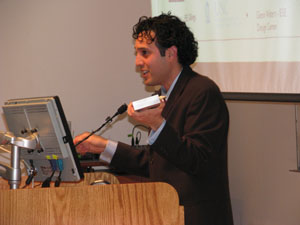 Will Vizuete, PhD, presenting his talk on air pollution (2010).