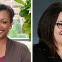 Leslie Adams and Jennifer Richmond, doctoral students
