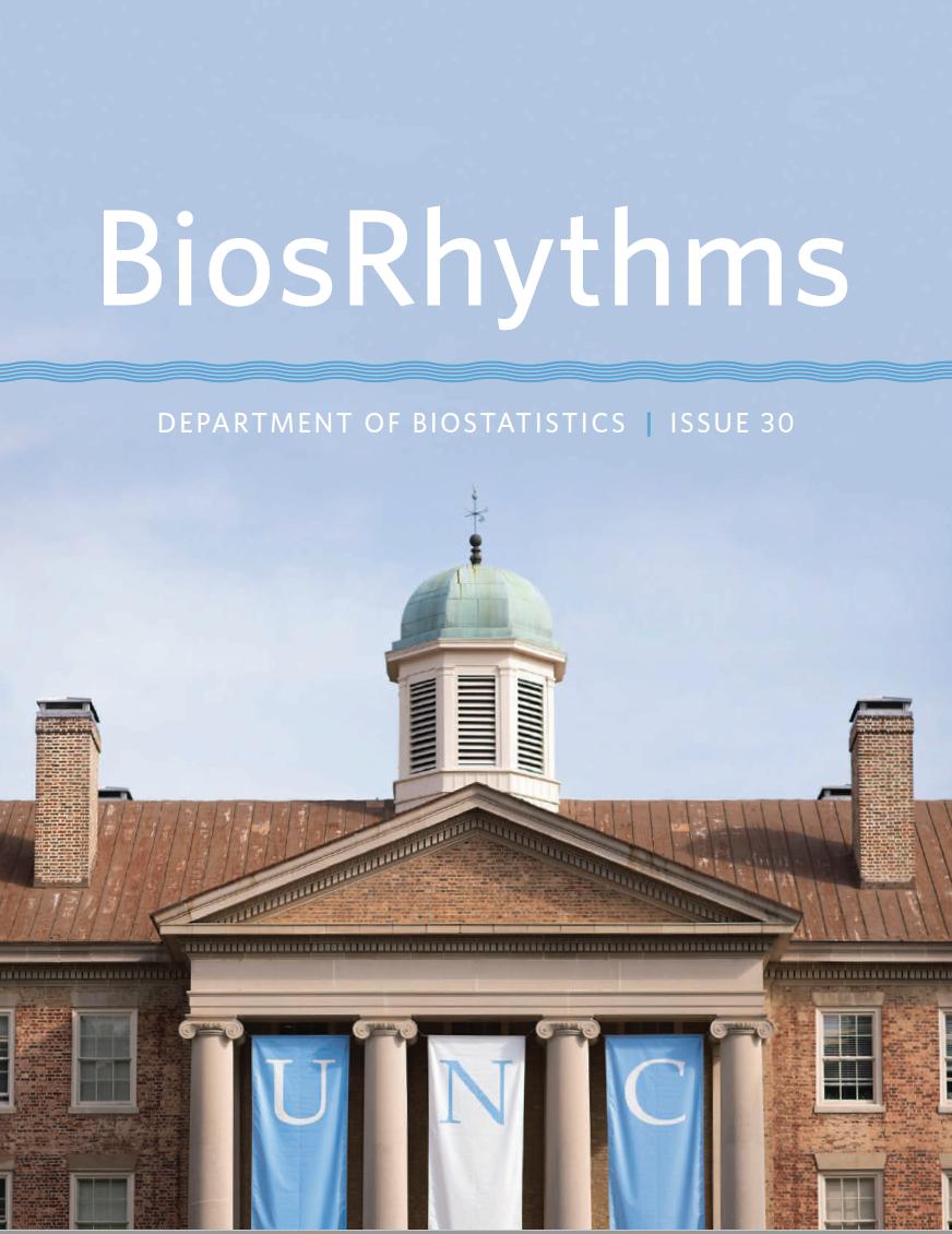Cover of the 2018 BiosRhythms newsletter.