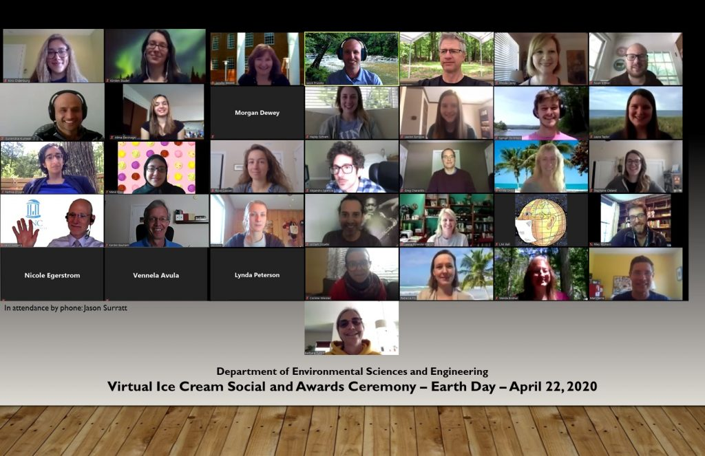 ESE celebrates the annual ice cream social over Zoom.