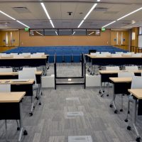 Joan Heckler Gillings Auditorium, as viewed from the front.