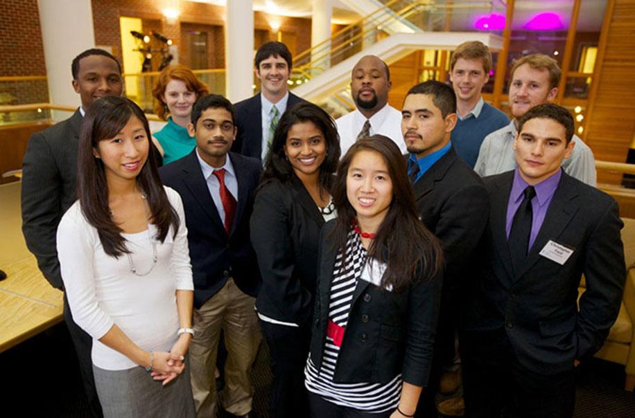 ESE alumni pose for a photo.
