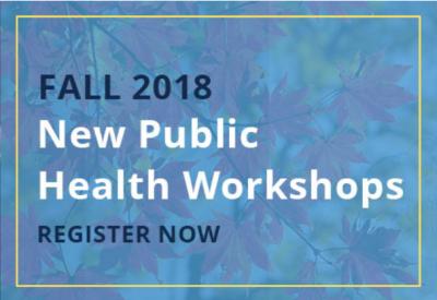 NCIPH New Fall 2018 Workshops