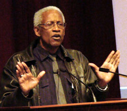 Dr. Robert Fullilove speaks at the 2010 Minority Health Conference.