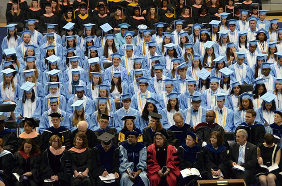 Students celebrate commencement.