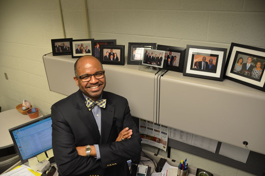 """Jeffrey Simms, HPM assistant professor and director of professional development and alumni relations, is the 2018 recipient of the John E. Larsh Jr. Award for mentoring. The Larsh Award """"recognizes an established, long-term faculty member who has spent several years of their career mentoring students for which Dr. Larsh was well known and valued highly."""""""