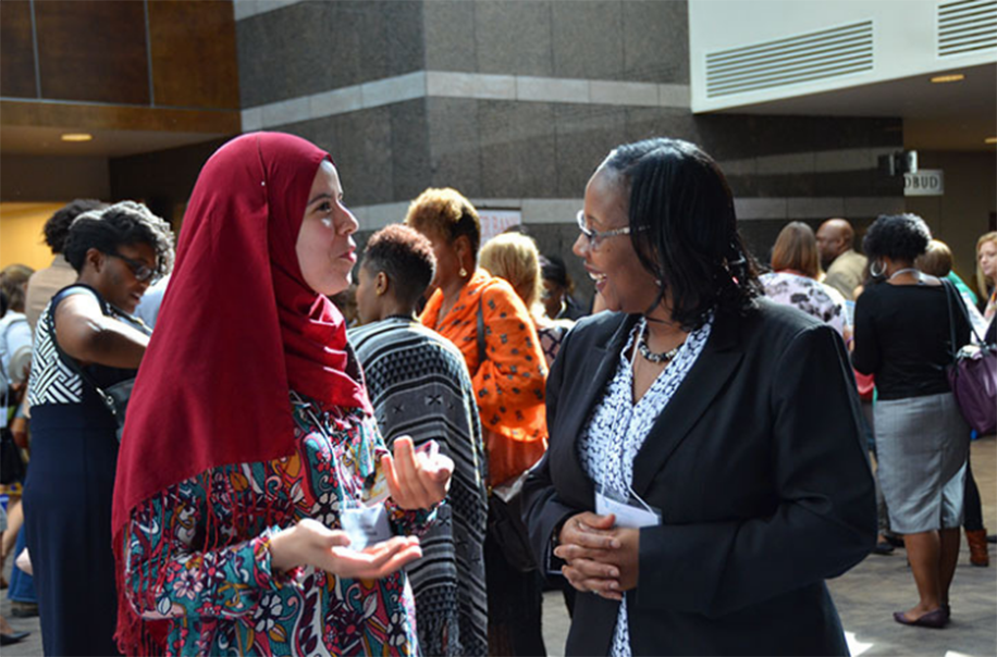 Students attend the minority health conference.