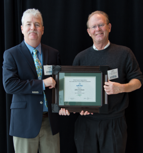 John Graham receives the Empower Award from the North Carolina Research & Education Network