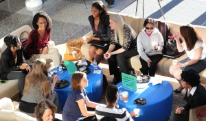 Prospective students visit GIllings School during fall open house