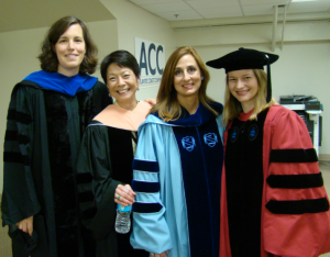 Drs. Maman, Eng, Siega-Riz and Herring at SPH Commencement.